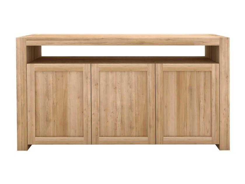 Solid wood sideboard with doors OAK DOUBLE | Sideboard - Ethnicraft