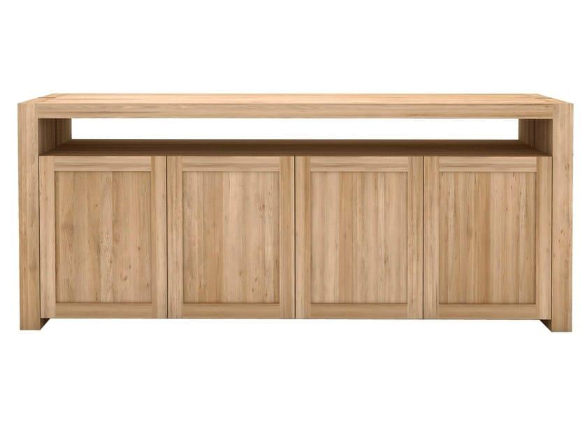 Solid wood sideboard with doors OAK DOUBLE | Solid wood sideboard - Ethnicraft