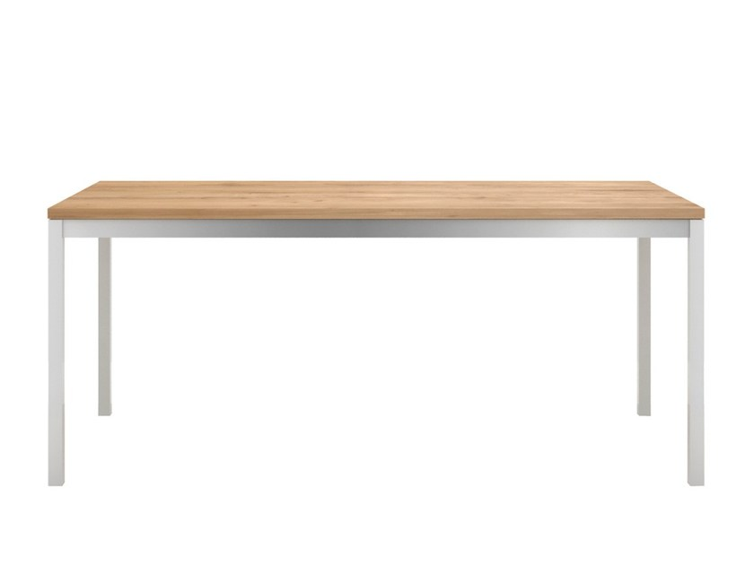 Rectangular steel and wood dining table OAK BASIC STEEL | Table - Ethnicraft