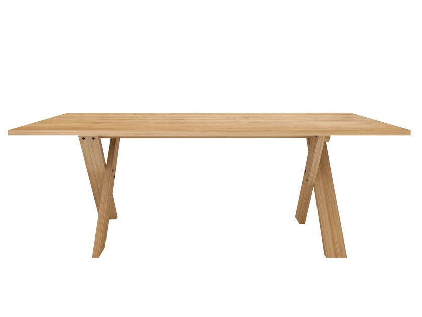 Rectangular solid wood dining table OAK PETTERSON | Table - Ethnicraft