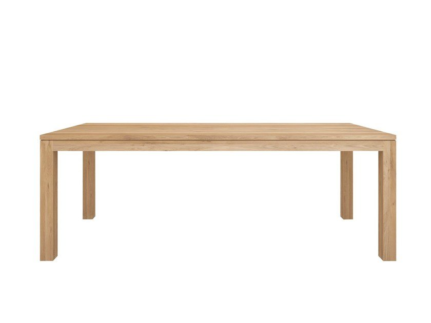 Rectangular solid wood dining table OAK STRAIGHT | Table - Ethnicraft