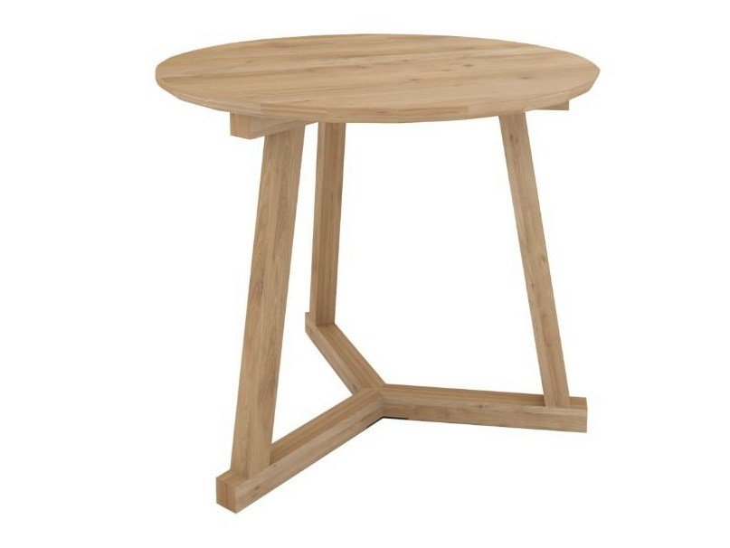 Sgabello tavolino in legno massello oak tripod table for Tavolino sgabello