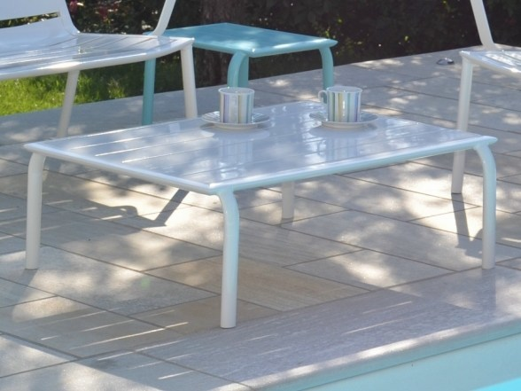 Rectangular garden side table LOUNGE | Low coffee table - FIAM