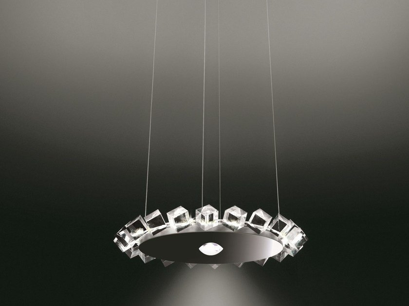 Direct-indirect light pendant lamp COLLIER UNO - Cini&Nils