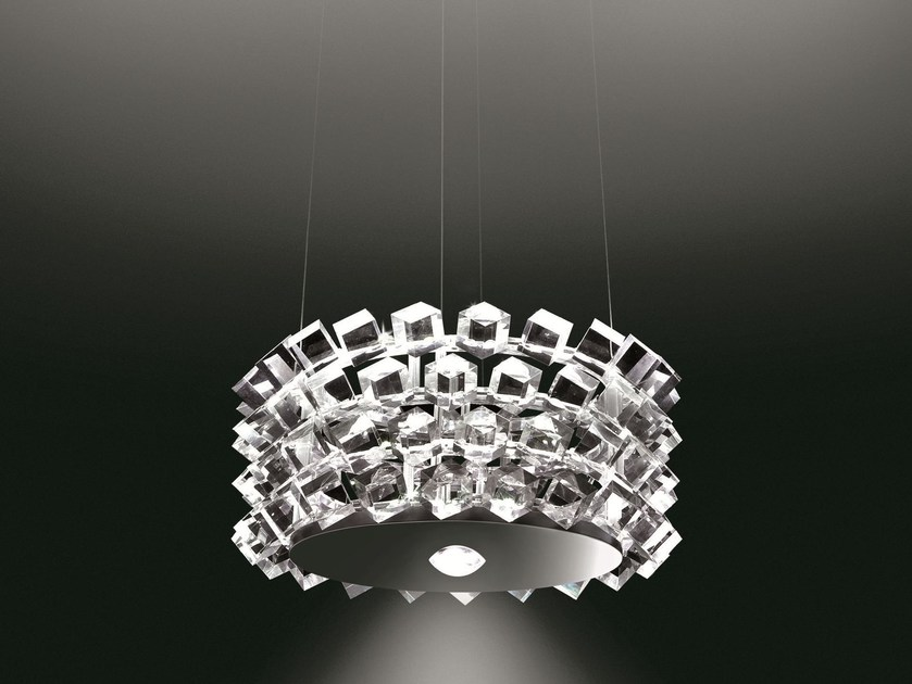 Direct-indirect light pendant lamp COLLIER QUATTRO - Cini&Nils