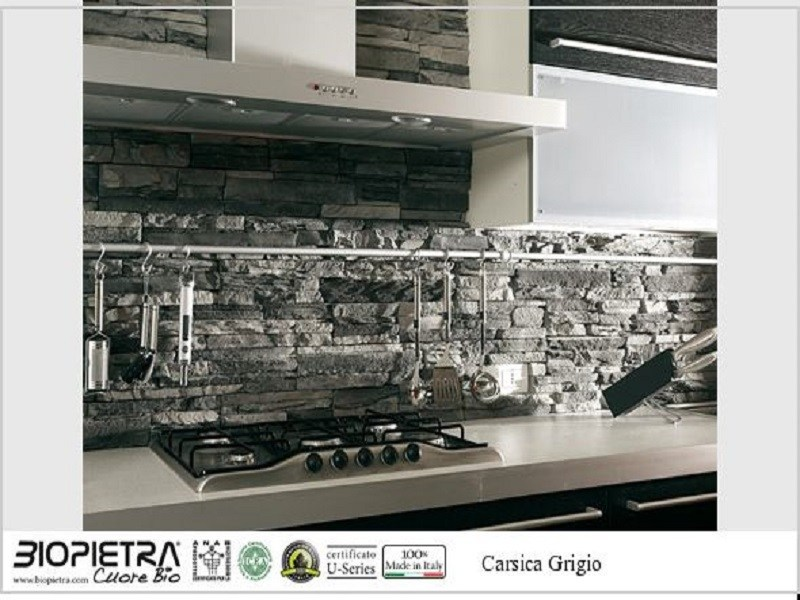 Artificial bio certified stone finish CARSICA by BIOPIETRA®