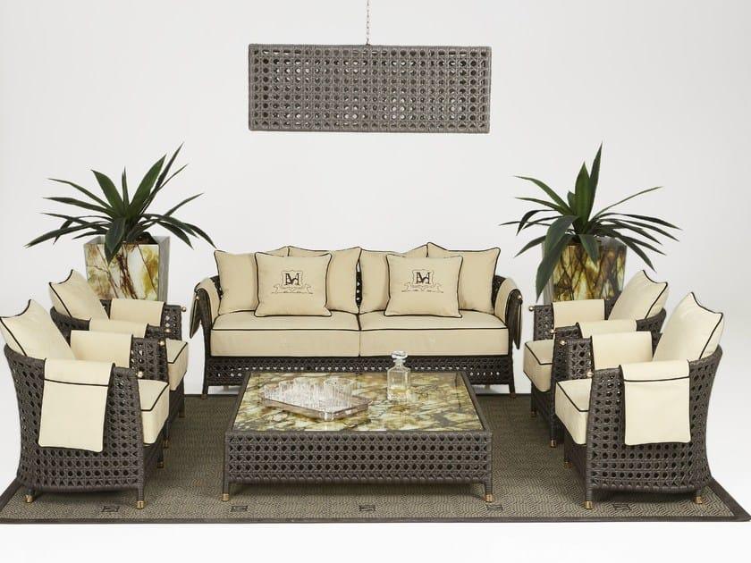 3 seater resin garden sofa WEZEN | Garden sofa - Samuele Mazza Outdoor Collection by DFN
