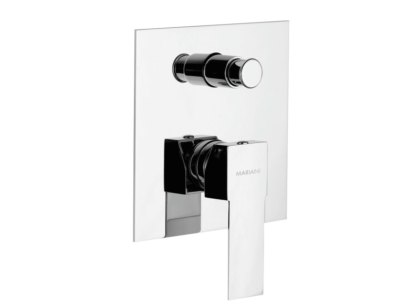 Chrome-plated shower mixer with diverter POLAR | Shower mixer with diverter by Rubinetterie Mariani