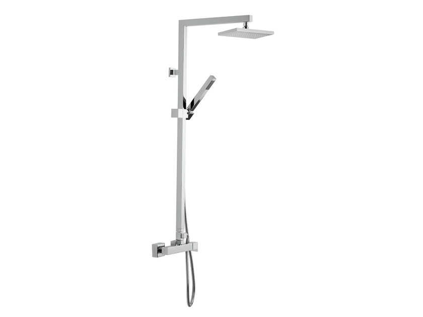 Wall-mounted shower column with hand shower with overhead shower POLAR | Shower panel - Rubinetterie Mariani