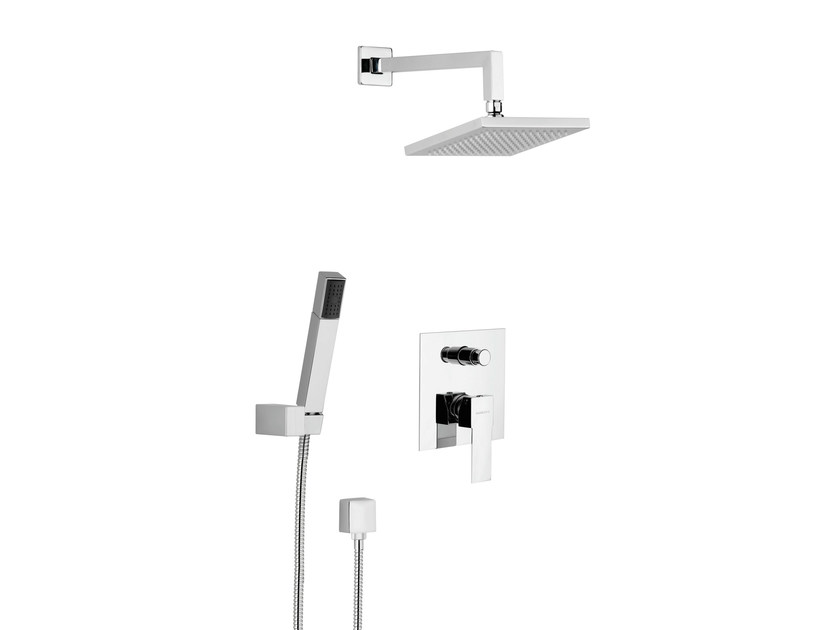 Shower mixer with diverter with hand shower with overhead shower POLAR - Rubinetterie Mariani
