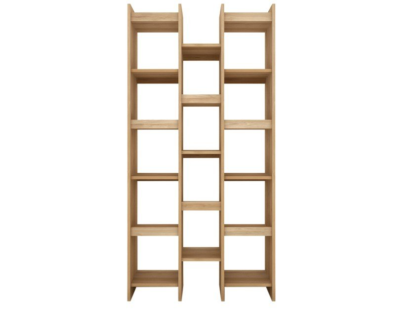 Open solid wood bookcase OAK MOZAIC | Bookcase by Ethnicraft