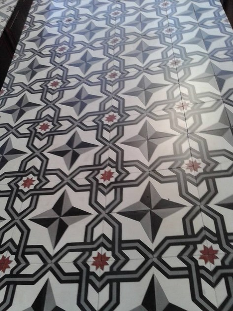 Indoor/outdoor cement wall/floor tiles ODYSSEAS 249 by TsourlakisTiles