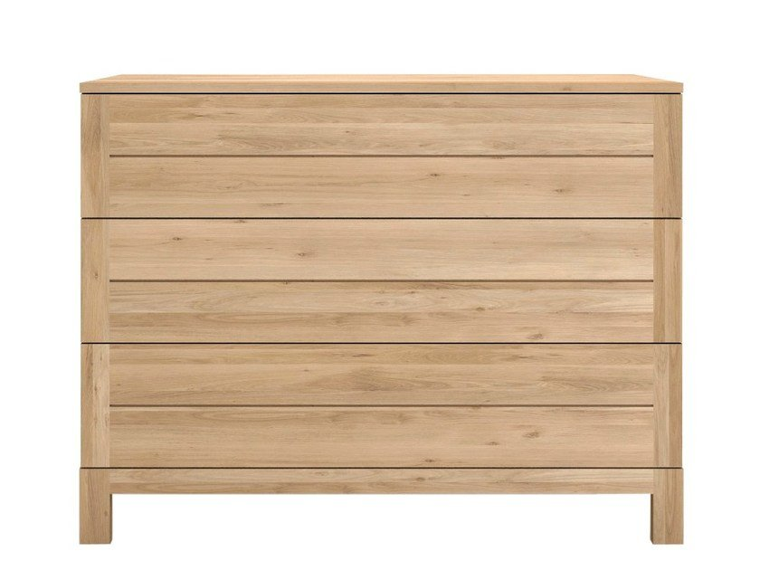 Free standing solid wood chest of drawers OAK AZUR | Chest of drawers - Ethnicraft