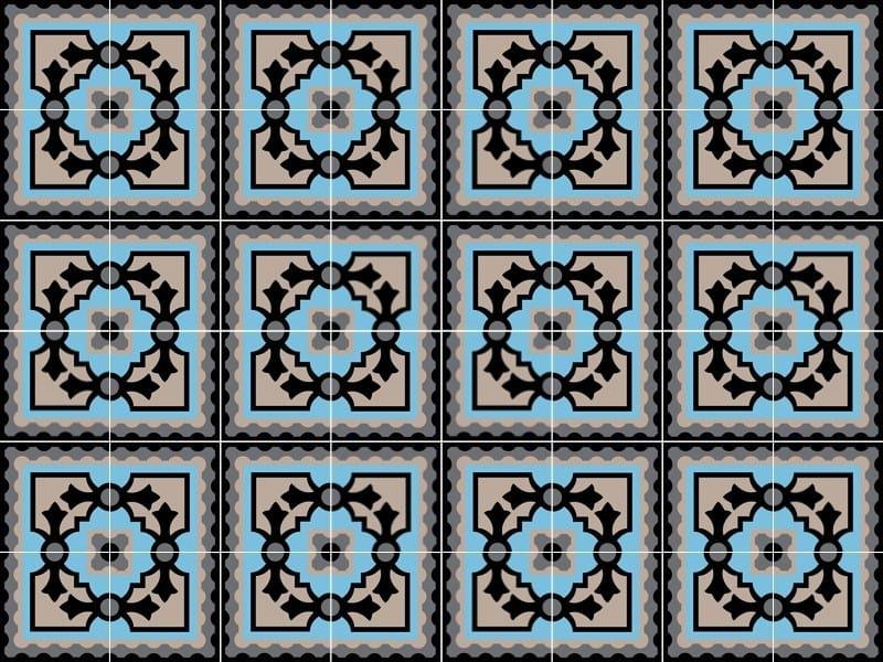 Indoor/outdoor cement wall/floor tiles ODYSSEAS 262 by TsourlakisTiles