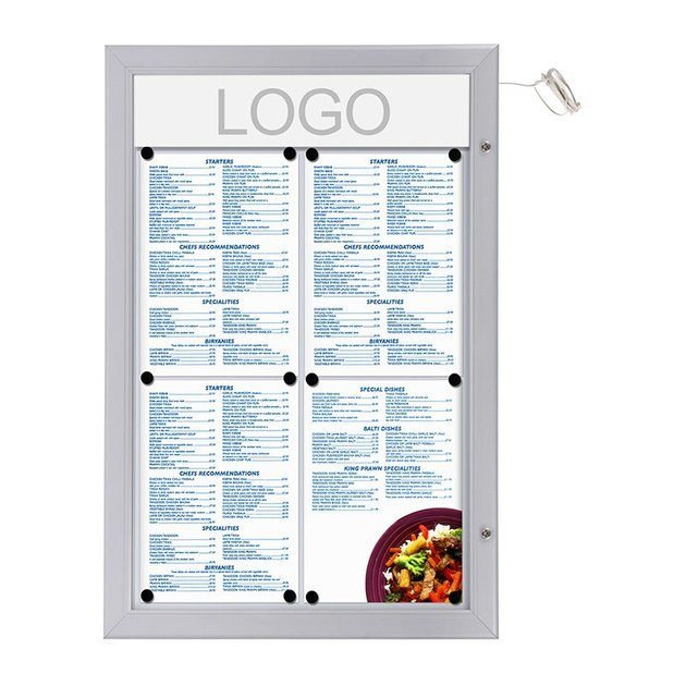 Wall-mounted freestanding double-sided notice board Bacheca porta menù - STUDIO T