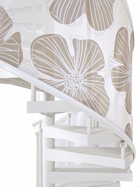 Outdoor technopolymer Spiral staircase TECHNE SKIN FIORI - Fontanot Spa