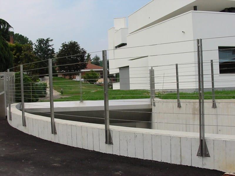 Parapetto / recinzione in acciaio inox funi brugg   c.p. sistemi