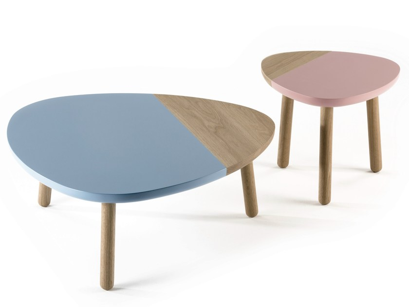 Lacquered wooden coffee table CAMI by Kendo Mobiliario