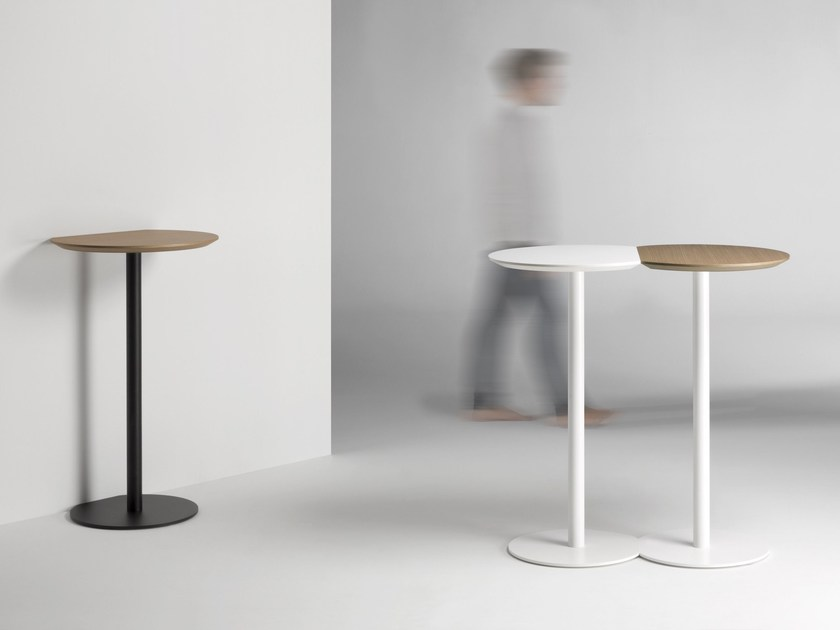 Lacquered round high table CORT | High table - Kendo Mobiliario