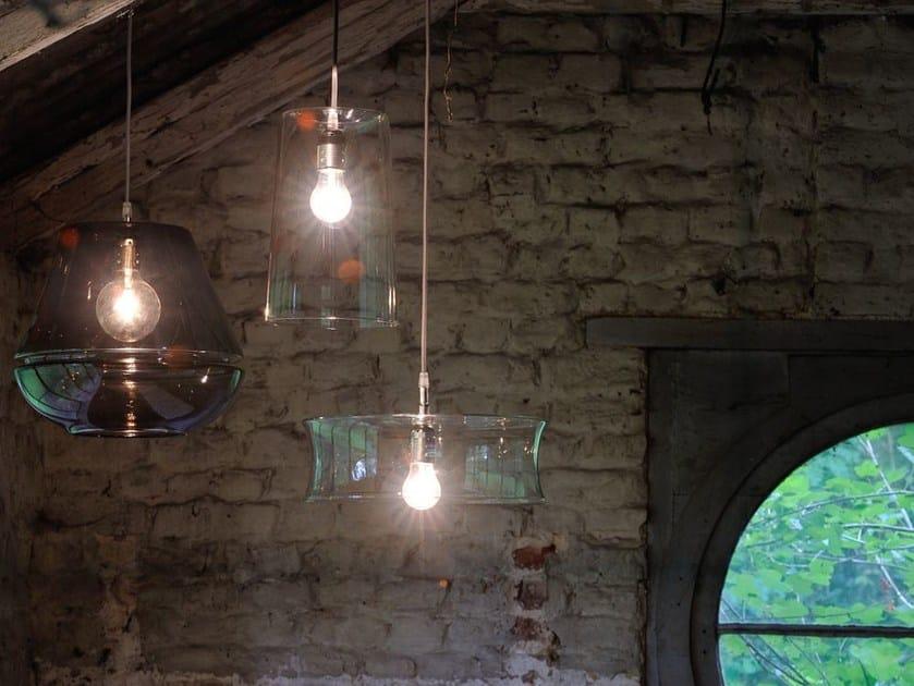 Pendant lamp 3 X 3 X 3 | Glass pendant lamp - Hind Rabii