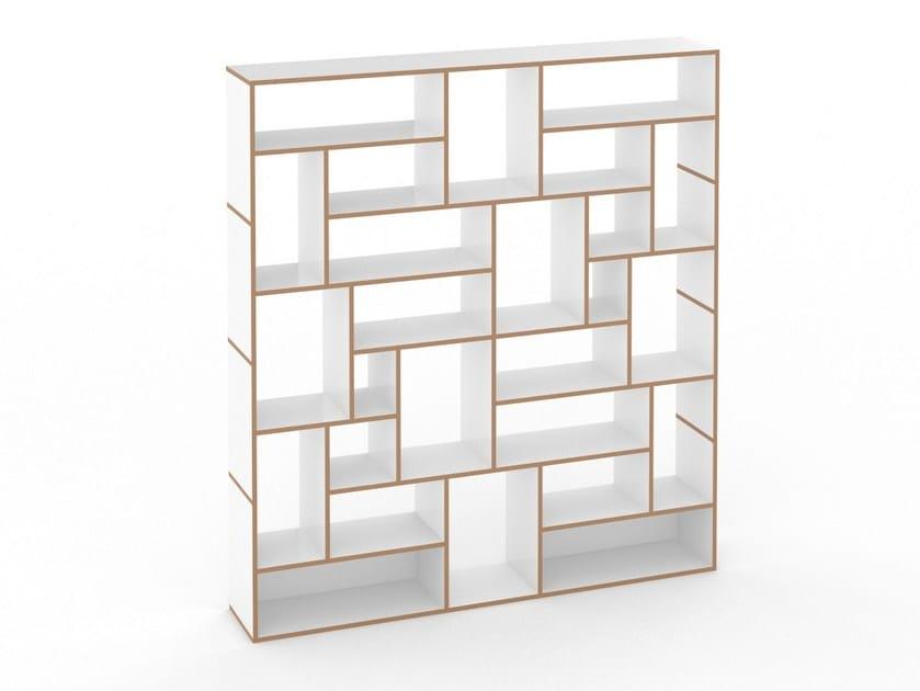 Open modular MDF bookcase HANIBAL - Tojo Möbel
