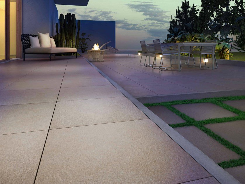 Porcelain stoneware outdoor floor tiles with stone effect KERBLOCK - Casalgrande Padana