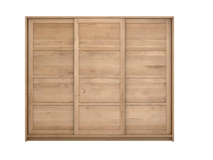 Solid wood wardrobe with sliding doors OAK KNOCKDOWN | Wardrobe - Ethnicraft