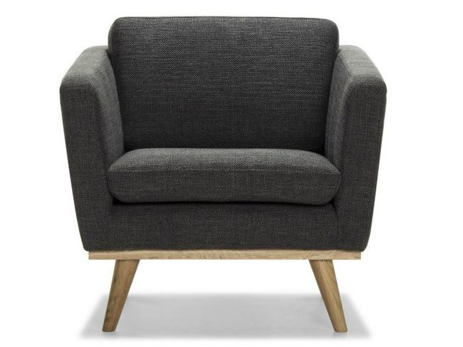 Upholstered fabric armchair 50'S | Armchair - RED EDITION