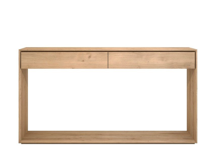 Solid wood console table with drawers OAK NORDIC | Console table - Ethnicraft