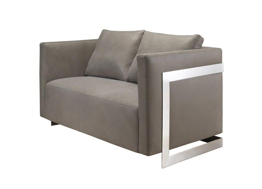2 seater leather sofa LOBSTER | Leather sofa - AZEA
