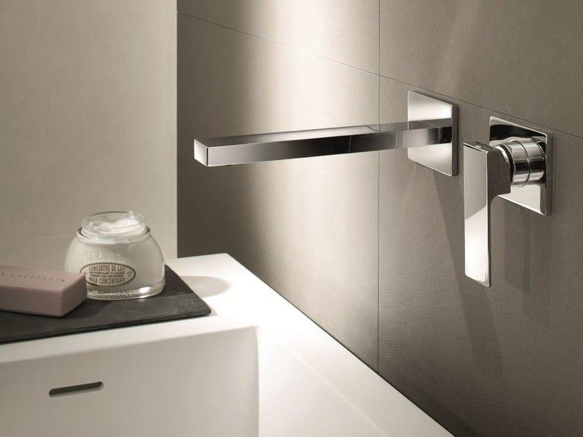 Miscelatore per lavabo a 2 fori a muro mint miscelatore per lavabo a muro fantini rubinetti - Rubinetti a muro bagno ...