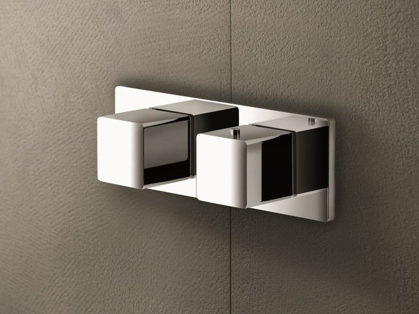 2 hole thermostatic shower mixer with diverter MINT | Thermostatic shower mixer with diverter - Fantini Rubinetti