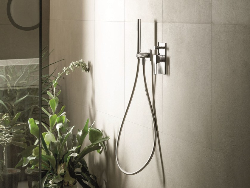 Shower mixer with diverter with hand shower MINT | Shower mixer with hand shower by Fantini Rubinetti