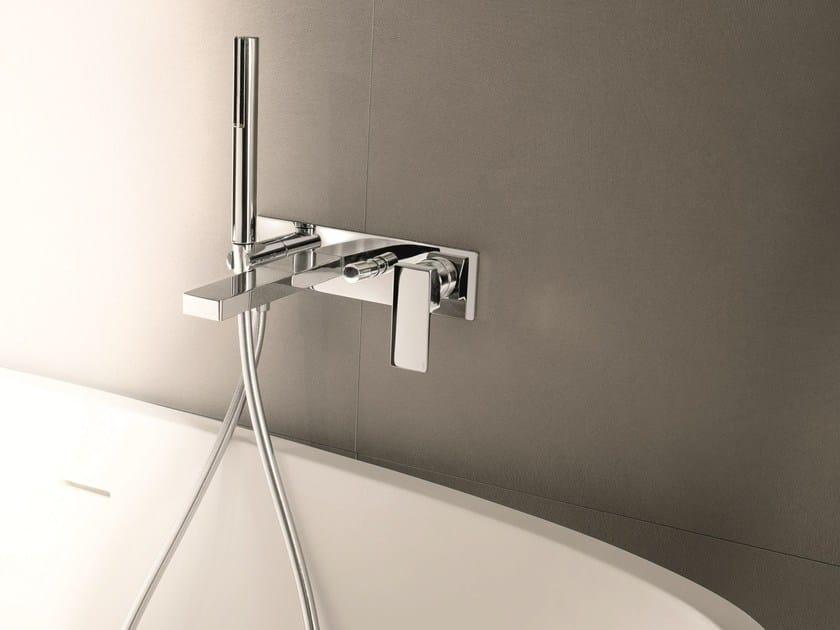 Wall-mounted bathtub mixer with hand shower MINT | Bathtub mixer - Fantini Rubinetti
