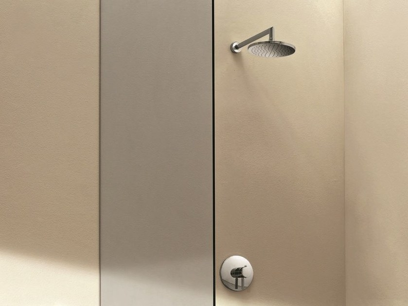 Thermostatic shower mixer with overhead shower NOSTROMO - D063A/E364B - 9231 - Fantini Rubinetti