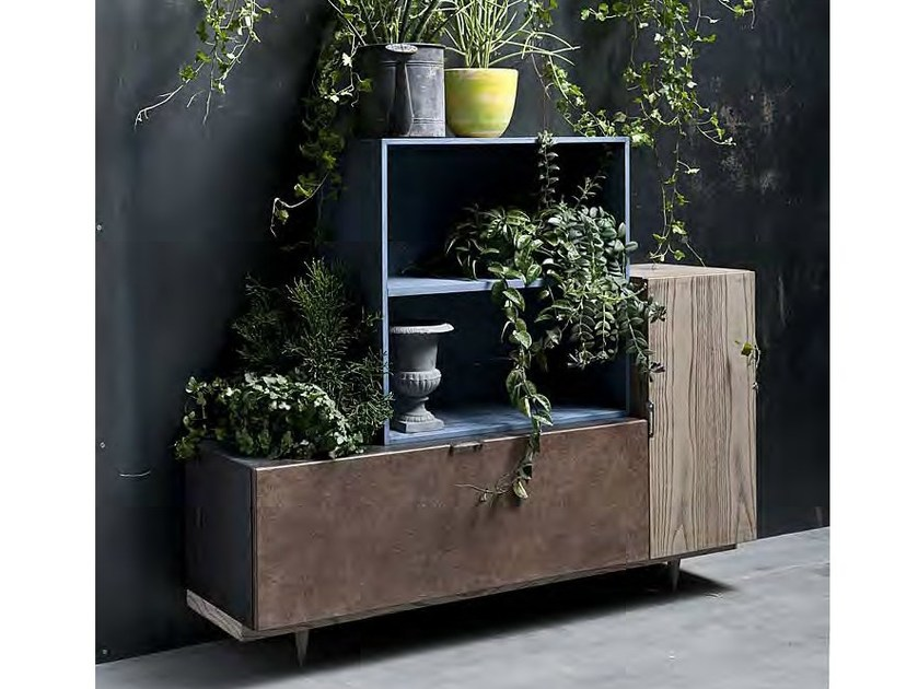 Modular lacquered wooden sideboard 5PUNTO7 | Sideboard by Shake