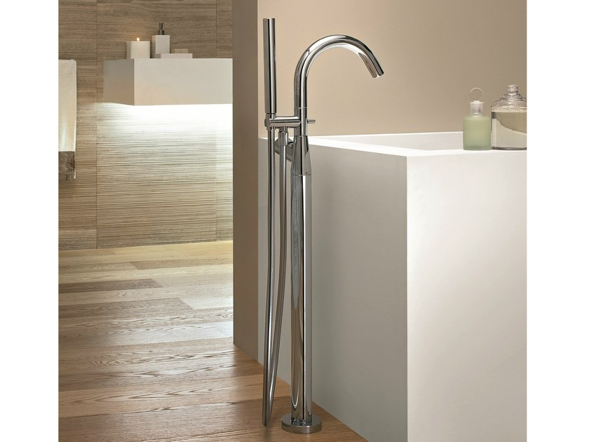 Floor standing bathtub mixer with hand shower NOSTROMO - 3380A/3780B - Fantini Rubinetti