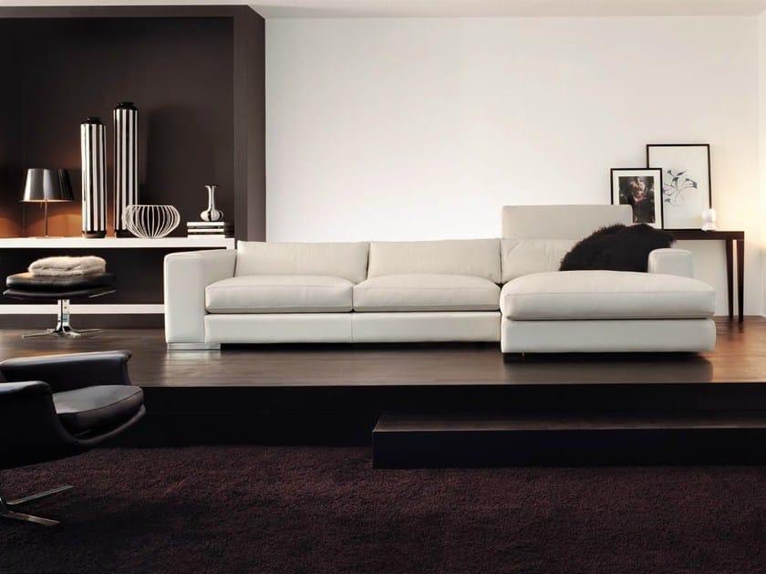 canap d 39 angle rembourr avec m ridienne collection. Black Bedroom Furniture Sets. Home Design Ideas