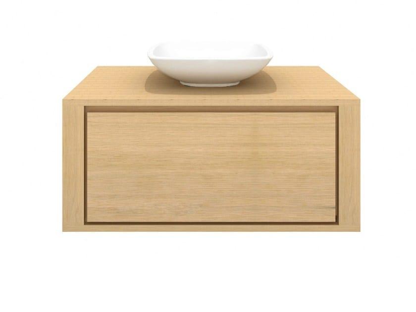 Single wall-mounted solid wood vanity unit OAK SHADOW | Single vanity unit - Ethnicraft