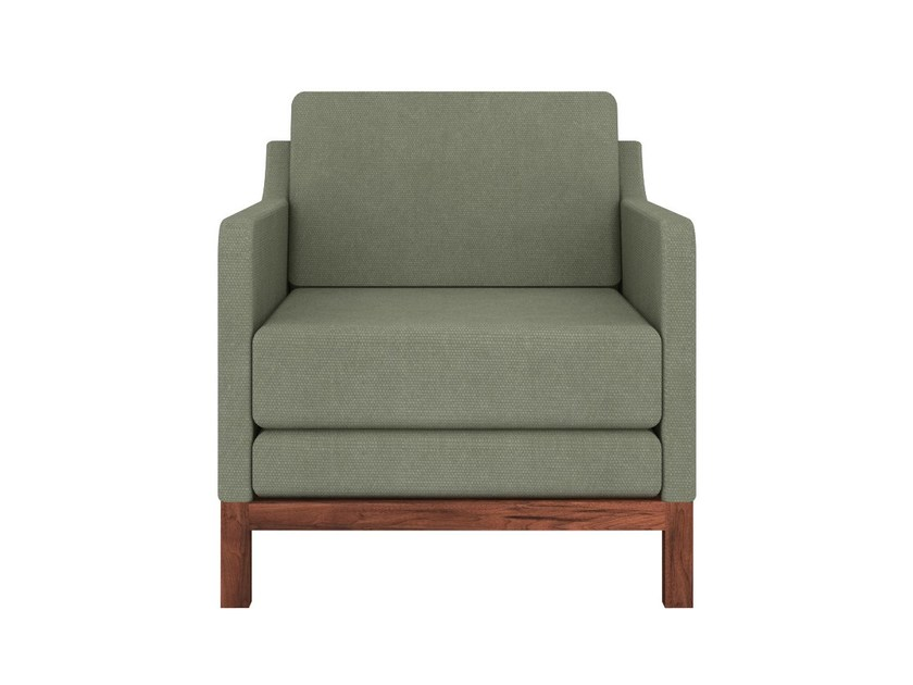 Upholstered fabric armchair with armrests ET101 | Armchair - Ethnicraft