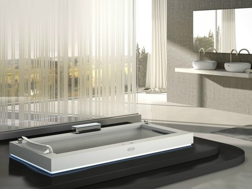 Whirlpool built-in Corian® bathtub AURA UNO CORIAN® - Jacuzzi Europe