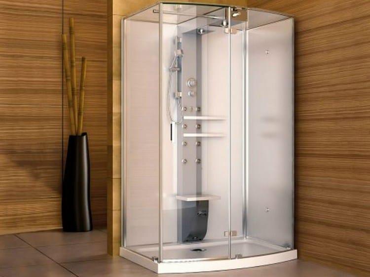 Corner multifunction steam shower cabin MYNIMA 140 - Jacuzzi Europe