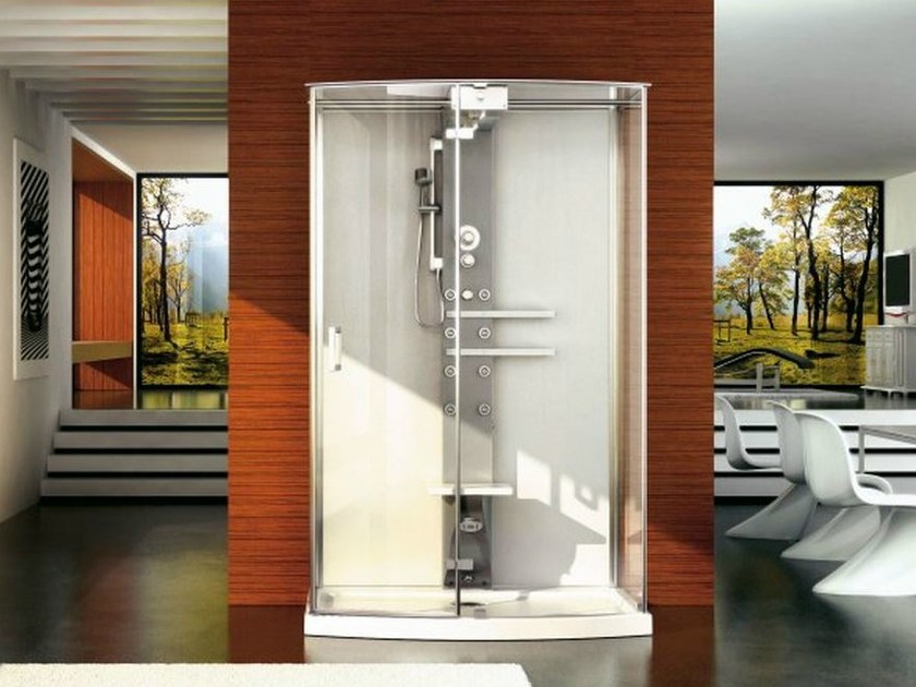 Multifunction steam shower cabin MYNIMA 140 WALL - Jacuzzi Europe