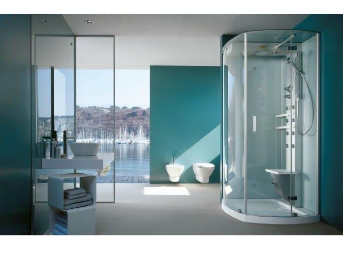 Box doccia multifunzione con bagno turco mynima 90 jacuzzi - Colonna doccia bagno turco prezzi ...