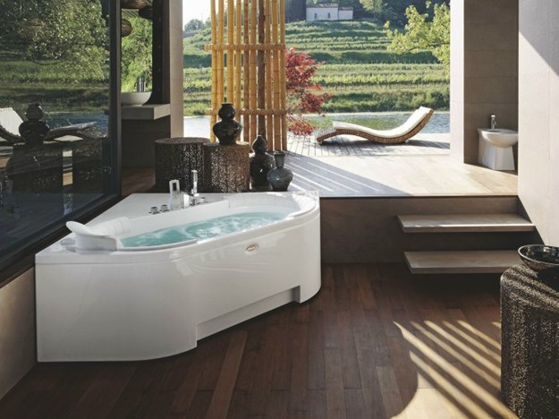 Corner whirlpool bathtub J-SHA MI CORNER by Jacuzzi Europe