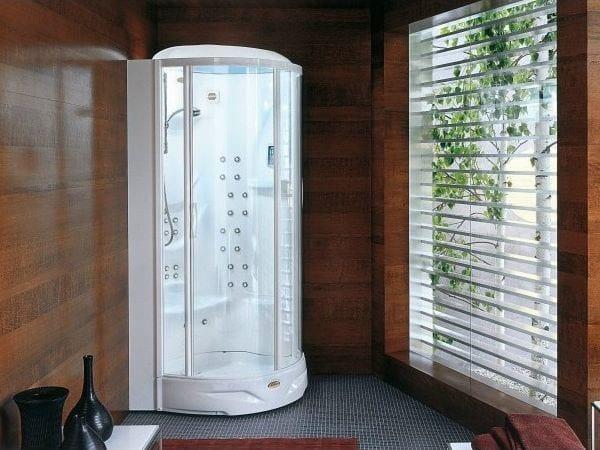 Diseno Baños De Vapor:Cabina de ducha de esquina multifunción con baño de vapor FLEXA