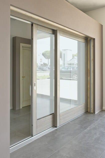 Porta finestra alzante scorrevole scorrevole in frassino - Porta finestra scorrevole ...
