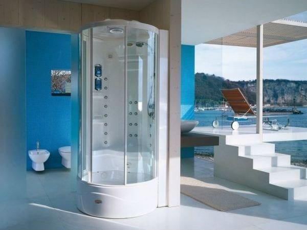 Baño Con Ducha Escocesa:Cabina de ducha multifunción con baño de vapor FLEXA TOWER – Jacuzzi