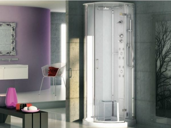 Multifunction semicircular steam shower cabin PLAY SPHERE by Jacuzzi Europe
