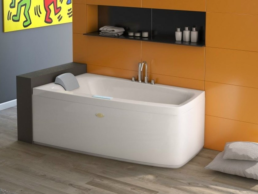 Asymmetric whirlpool bathtub FOLIA | Whirlpool bathtub by Jacuzzi Europe